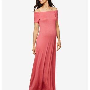 Motherhood Maternity off the shoulder Maxi Dress